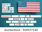 martin luther king day... | Shutterstock . vector #549477130