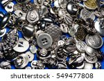 collection of metallic sewing... | Shutterstock . vector #549477808