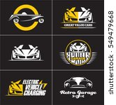 car logos and icons set ... | Shutterstock .eps vector #549479668