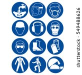 safety signs at work | Shutterstock . vector #549488626