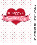 card cover with message  happy... | Shutterstock .eps vector #549489319