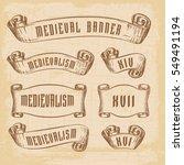 old ribbon banner   for... | Shutterstock .eps vector #549491194