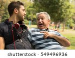 dad and son having fun in the... | Shutterstock . vector #549496936