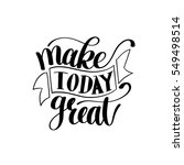 make today great vector text... | Shutterstock .eps vector #549498514