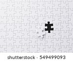 white jigsaw puzzle | Shutterstock . vector #549499093