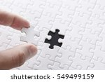 white jigsaw puzzle | Shutterstock . vector #549499159