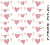 cute hand drawn vector seamless ... | Shutterstock .eps vector #549501598