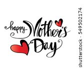 happy mothers day lettering.... | Shutterstock .eps vector #549502174