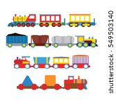 toy train vector illustration.   Shutterstock .eps vector #549503140