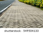 concrete block footpath with... | Shutterstock . vector #549504133