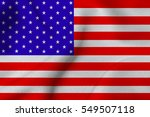usa national flag illustration... | Shutterstock . vector #549507118