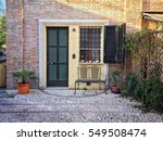 a lovely house on the street in ... | Shutterstock . vector #549508474