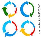 set of 4 version circular arrow ... | Shutterstock .eps vector #549509548