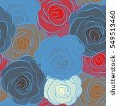 vintage watercolor floral... | Shutterstock .eps vector #549513460