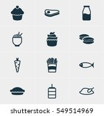 illustration of 12 cooking... | Shutterstock . vector #549514969