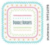 set of doodle borders ... | Shutterstock .eps vector #549516598