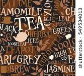 vector seamless tile of tea... | Shutterstock .eps vector #549534013