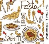 pattern italian foods pasta... | Shutterstock .eps vector #549537748