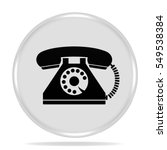 old phone icon. internet button.... | Shutterstock . vector #549538384