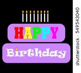 happy birthday card | Shutterstock .eps vector #549543040
