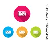 modern battery icons with long... | Shutterstock .eps vector #549544318