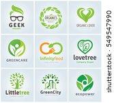 organic food and green logo set | Shutterstock .eps vector #549547990
