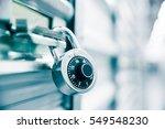 combination lock on a self... | Shutterstock . vector #549548230