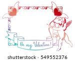 cupid with bow hunting for... | Shutterstock . vector #549552376