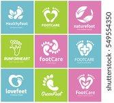 foot care logo set  | Shutterstock .eps vector #549554350
