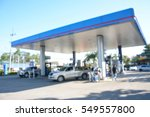 blurred image of gas station. | Shutterstock . vector #549557800