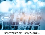 the laboratory test tubes with... | Shutterstock . vector #549560080