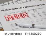 health insurance application... | Shutterstock . vector #549560290