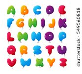 balloon alphabet vector set. | Shutterstock .eps vector #549560818