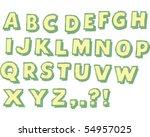 alphabet block letters | Shutterstock .eps vector #54957025