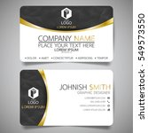 black and gold modern creative... | Shutterstock .eps vector #549573550
