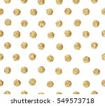 Gold Glitter Dots Seamless...