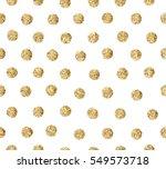 Gold Glitter Dots Seamless...