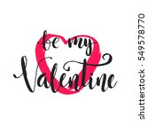valentines day greeting card... | Shutterstock .eps vector #549578770