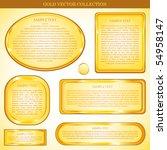 gold vector sticker | Shutterstock .eps vector #54958147