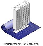 a white model of a modern...   Shutterstock .eps vector #549582598
