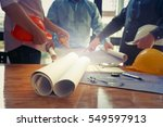engineers with the project... | Shutterstock . vector #549597913