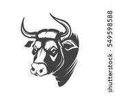 bull head emblem isolated on... | Shutterstock .eps vector #549598588