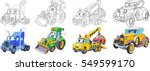 cartoon transport set.... | Shutterstock .eps vector #549599170