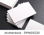 photo of business cards mockup. ...   Shutterstock . vector #549603220