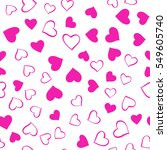 romantic pink pattern. vector... | Shutterstock .eps vector #549605740
