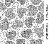 vector hand drawn seamless... | Shutterstock .eps vector #549605860