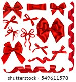 vector set of decorative red... | Shutterstock .eps vector #549611578