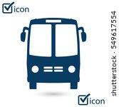 bus icon. schoolbus symbol.... | Shutterstock .eps vector #549617554