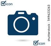 digital camera. flat design... | Shutterstock .eps vector #549623263
