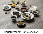 collection of spices and herbs...   Shutterstock . vector #549629164